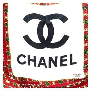 Chanel Silk Scarf - Authentic Vintage